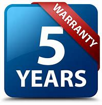 Free 5 Year Warranty